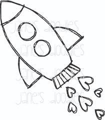 cartoon rocket ships group 81