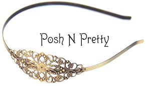 metal headbands filigree headbands posh n pretty boutique wholesale supplies