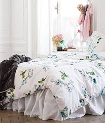 Covered Duvet Hummingbird Print Duvet Quilt Cover 3pc Set King 100 Cotton Bird