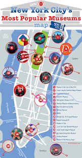 map of nyc new york city s most popular museums map