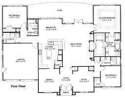 Simple Two Storey House Design by Plain Simple One Story House Plans Square Spacious Living Space