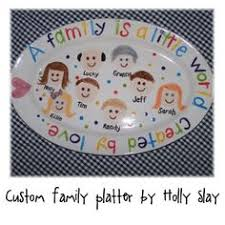 personalized family platters stick figure family plate craft ideas stick figure