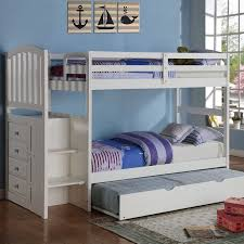 Loft Bed With Desk On Top Best 25 Bunk Bed With Trundle Ideas On Pinterest Trundle Bunk