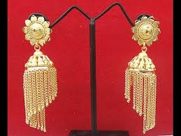 images of gold ear rings gold earrings gold rings 22kt gold jhumka 22kt gold jhumka