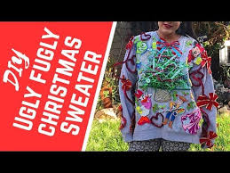 diy ugly christmas sweater how to make a winning ugly