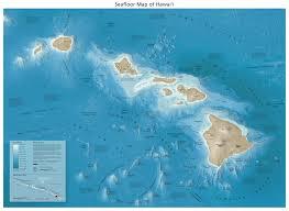Map Of Hawaii Big Island Hawaii Seafloor Feet Big Jpg