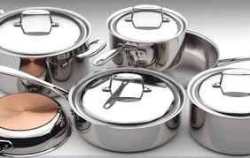 batterie de cuisine inox professionnel lot d accesssoire de cuisine inox set retro