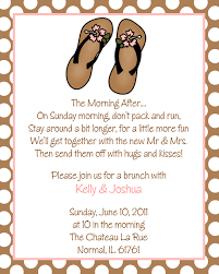 morning after wedding brunch invitations hawaiian flip flops after wedding brunch invitations