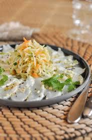 cuisiner la papaye salade de papaye verte et poisson cru mariné recette interfel
