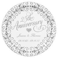 25th anniversary plates personalized 25th anniversary plates zazzle