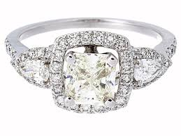 radiant cut halo engagement rings certified radiant cut halo engagement ring in 14k white