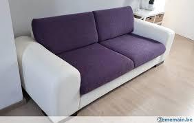 canapé cuir et tissu canapé montebello 3 places cuir et tissu a vendre 2ememain be