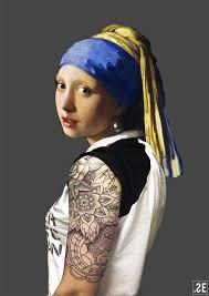 painting girl with pearl earring het meisje met de parel modern pearl earrings