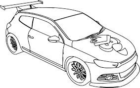 cartoon vw scirocco car angry bird coloring wecoloringpage
