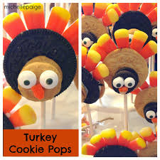 thanksgiving oreo turkey cookies recipe michelle paige blogs turkey cookie pops