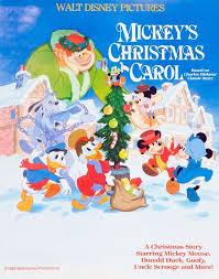 mickey u0027s christmas carol movie poster vintage stock