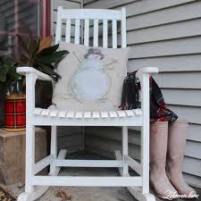 Old Rocking Chair On Porch Farmhouse Christmas Front Porch Lehman Lane
