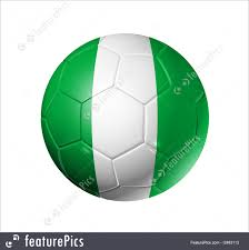 Nigerian Flag Soccer Football Ball With Nigeria Flag Stock Illustration I2463113