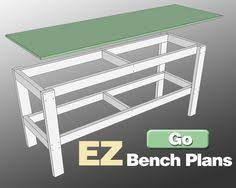 Plans For Building A Wood Workbench by Image Of Garage Work Bench Workbench Plans For Garage And
