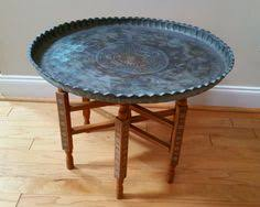 Brass Tray Table Moroccan Round Brass Tray Coffee Table Moroccan Trays And Rounding