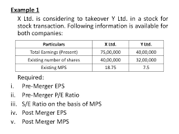 meaning reasons calculation of merger effects