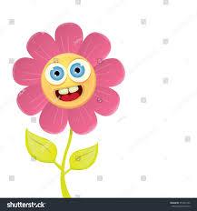 vector spring cartoon flowers isolated on stock vector 357401222