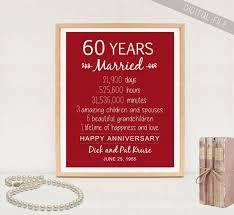cadeau 60 ans de mariage 60e anniversaire cadeau 60 ans anniversaire de mariage