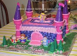 birthday castle cake