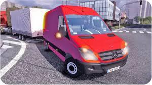 pink mercedes truck mercedes sprinter ets2 euro truck simulator 2 youtube