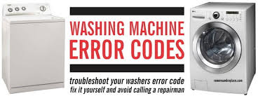 washing machine error codes front load and top load washers