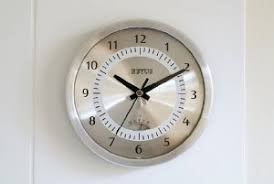 Small Bathroom Clock - clocks are a great way to improve the design of your bathroom