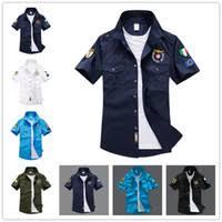 cheap mens military uniform shirts free shipping mens military