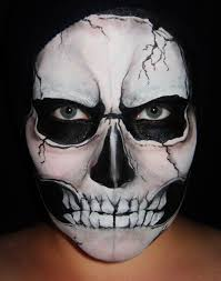Halloween Face Paint Ideas Skeleton by Skeleton Face Paint Makeup Second Star Face Painting Pinterest