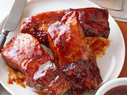 plum glazed country ribs recipe taste of home