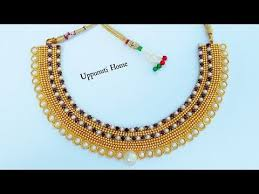 necklace designs making images How to make designer pearls necklace at home diy hand made jpg