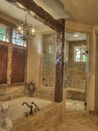 Rustic Bathroom Tile - bathroom outstanding rustic bathroom with beams rustic shower