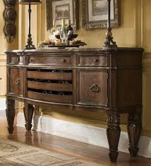 traditional wood white dining room buffet with doors and legs that
