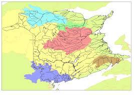 Yellow River Map Map Of New Brunswick Watersheds