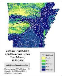 tornado map tornado touchdown map encyclopedia of arkansas