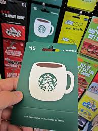 gift card a 15 coffee gift card from starbucks i am the d u2026 flickr