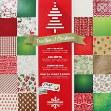 traditional christmas paper pack 30 x 30 craft supplies brand