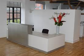 Bespoke Reception Desk Bespoke Reception Desks White Lacquer Silver Laminate