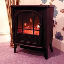 garden mile portable 1 8kw black log burner electric fire stove