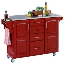 red kitchen island cart awe inspiring red kitchen cart island with stainless steel island