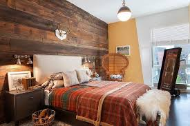 Wood Leather Headboard by Bedroom Small Bedroom With Chevron Wood Panel Also Wooden Bed
