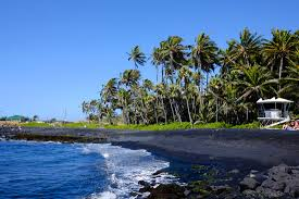black sand beach hawaii punalu u black sand beach na alehu hawaii life as we explore