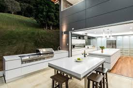 Outdoor Barbecue Kitchen Designs Modern Outdoor Bbq Kitchen Contemporary With Indoor Outdoor