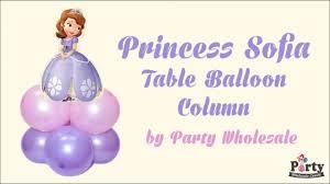 balloon wholesale princess sofia mini table balloon column by party wholesale centre