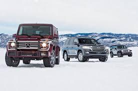 compare jeep wranglers jeep wrangler vs mercedes g550 vs toyota land cruiser comparison