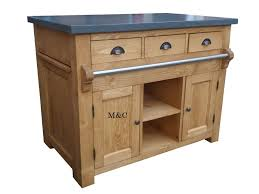 meuble billot cuisine ilot central de cuisine plateau façon ardoise